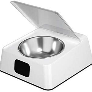 CALIDAKA 350ML Automatic Pet Feeder for Cats and Dogs, Smart Infrared Sensor Pet Feeder, Pet Food Dispenser, Smart Pet Bowl Infrared Sensor Automatic Opening Moisture-Proof Protection