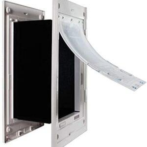 Dragon Wall Pet Door Medium Double Flap White