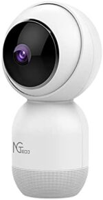 Security Camera Indoor, NGTeco Smart HD Baby Monitor with Camera and Audio - Upgraded Surveillance Home 2.5Ghz WiFi PTZ Camera 1080P for Baby/Pet/Dog/Nanny Works with Alexa & Google Assistant