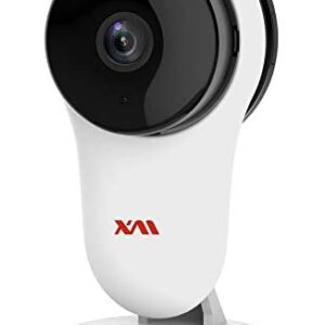 XM Smart Home Camera, Wireless IP Security Camera 1080P Indoor Surveillance Camera with AI Human Detection,Night Vision,2-Way Audio,2.4GHz WiFi Baby Monitor for Nanny/Home/Office with iOS/Android