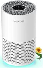 MegaWise Smart Air Purifier for Home Large Room up to 804ft², H13 True HEPA Filter with Smart Air Quality Sensor, Sleep Mode, Quiet Air Cleaner for Pollen, Asthma, Pets, Odors, Smoke, Dust, Ozone Free